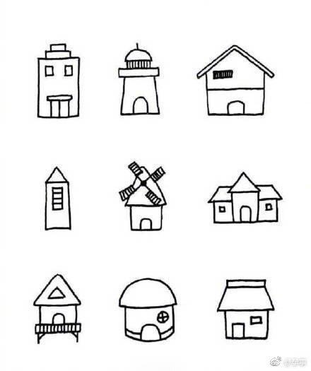 超可爱的小房子简笔画,碉堡了!留着教小朋友