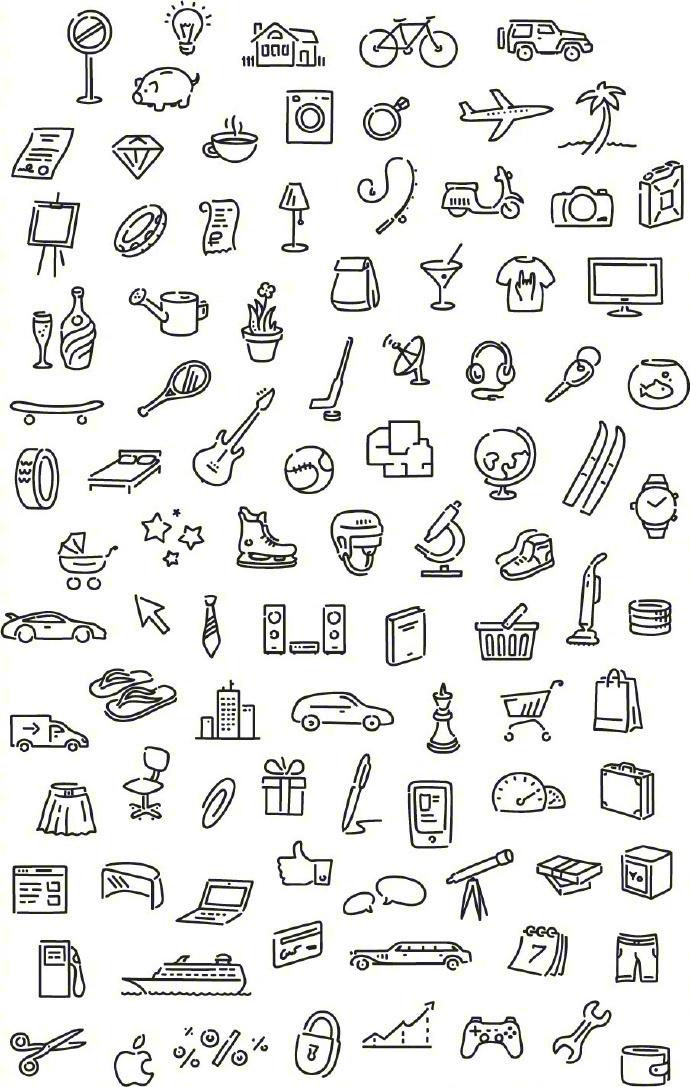 可能是最全的一些简笔画了,拿来做手绘涂鸦和手账都不错 简笔画 涂鸦 小