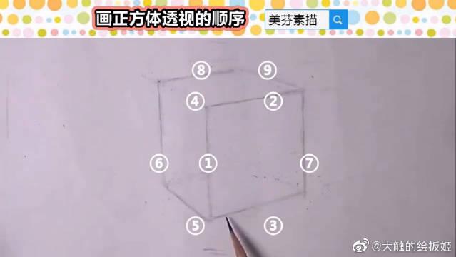 记住这个顺序,再也不用担心画不好正方体的透视