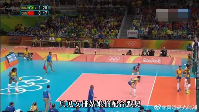 中国女排高光时刻,朱婷一记后仰暴扣惊艳全场,对手都快哭了!