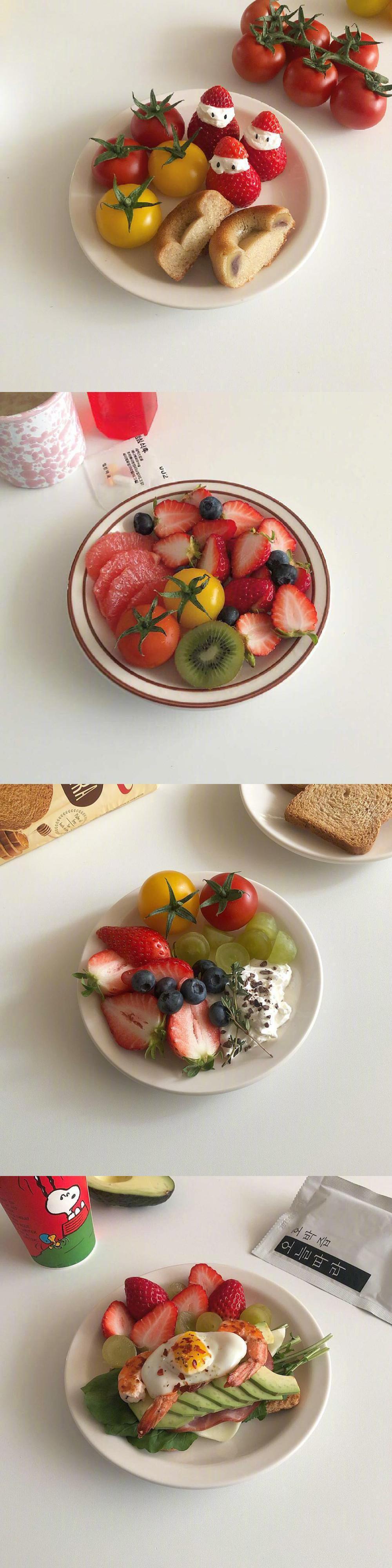 草莓低脂减肥餐 .