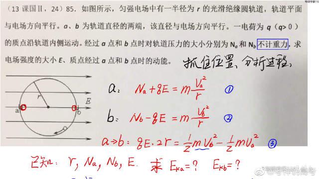 高中物理能力提升:2013年 课标全国卷2第24题,做对这道题
