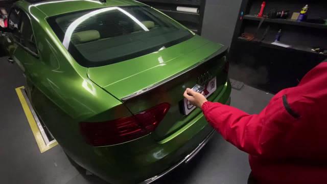 奥迪A5改装 自动升降尾翼 演示视频