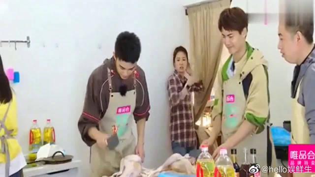 第三季:吴磊剁鸡肉手忙脚乱,马天宇却丝毫不慌