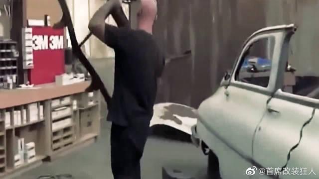 一辆几十年前的废旧古董车,牛人维修打磨后,网友:一辆绝版豪车!