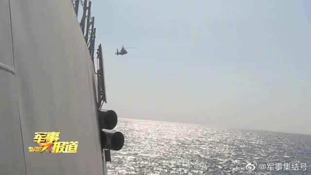 黄海海域,海军某护卫舰支队展开多课目训练
