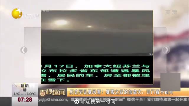 历史罕见暴风雪!:开门看不到天