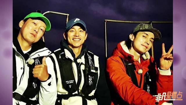 孔刘李栋旭合体一起钓鱼,二人露甜笑超可爱
