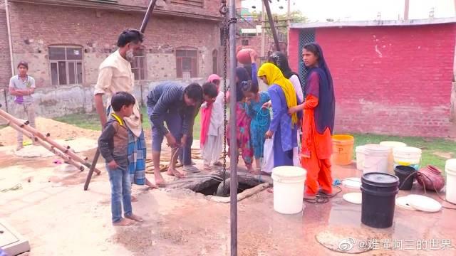 哈里亚纳邦农村生活纪录--妇女汲水,真实的印度生活!
