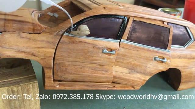 越南小哥大神打造一辆木质雷克萨斯LX 570特别版汽车模型