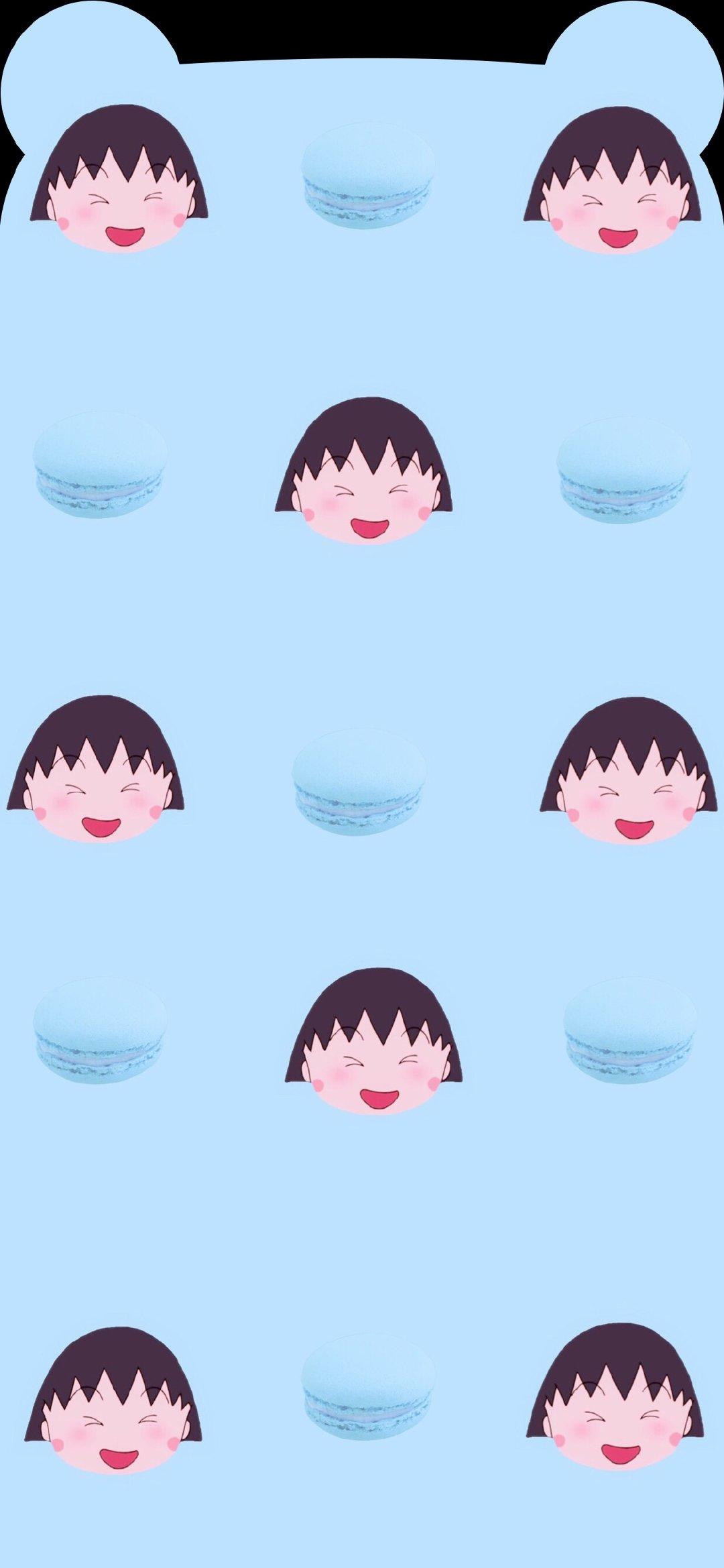 樱桃小丸子 齐刘海专用 手机壁纸图片