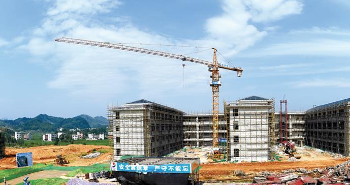 通山县文星学校正在抓紧建设中