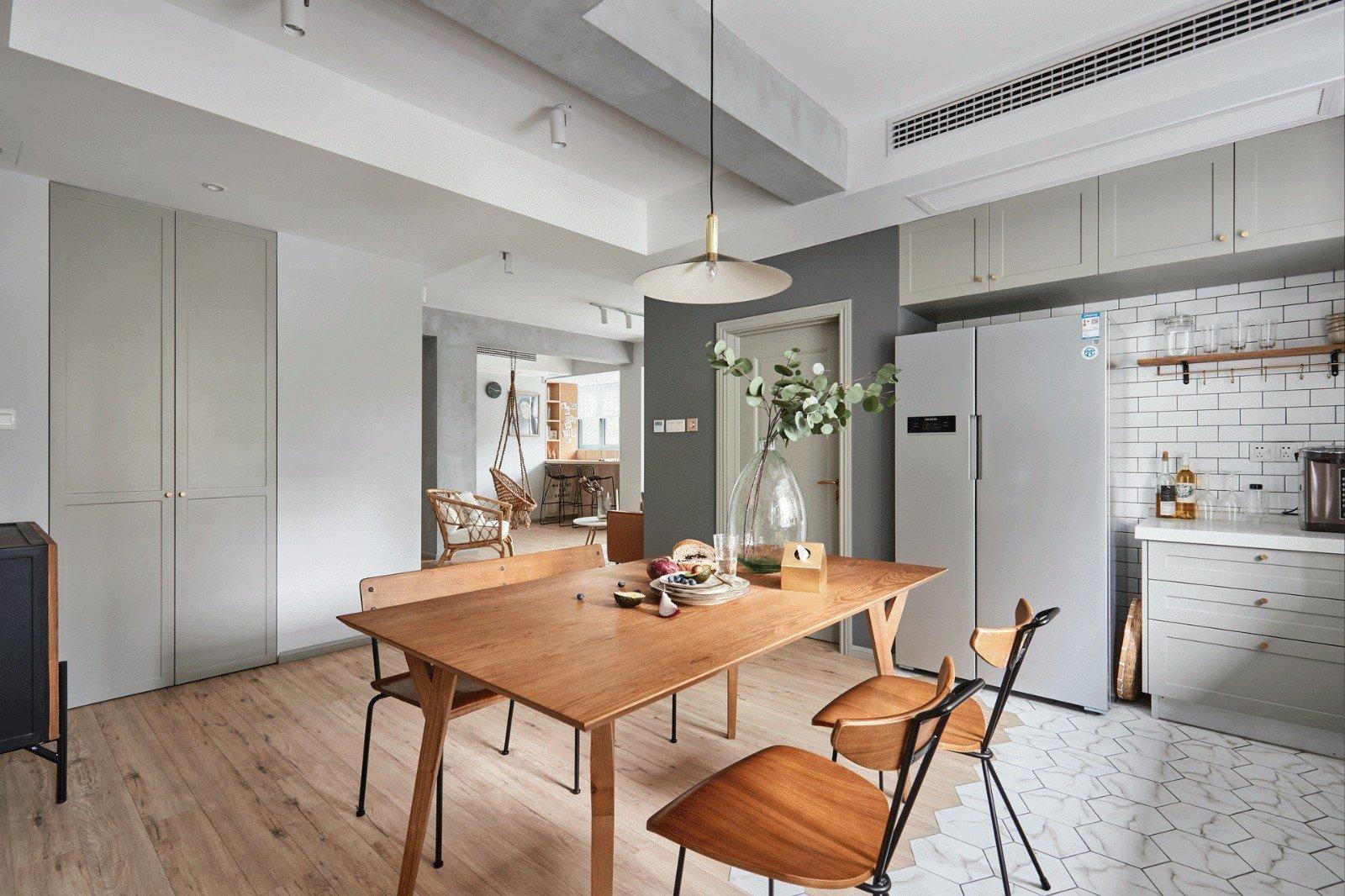 100㎡能客厅荡秋千的家,每一个空间不一样的美.图片