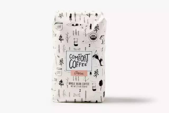 包装| 手绘插画风格的咖啡包装设计,简约又时尚!