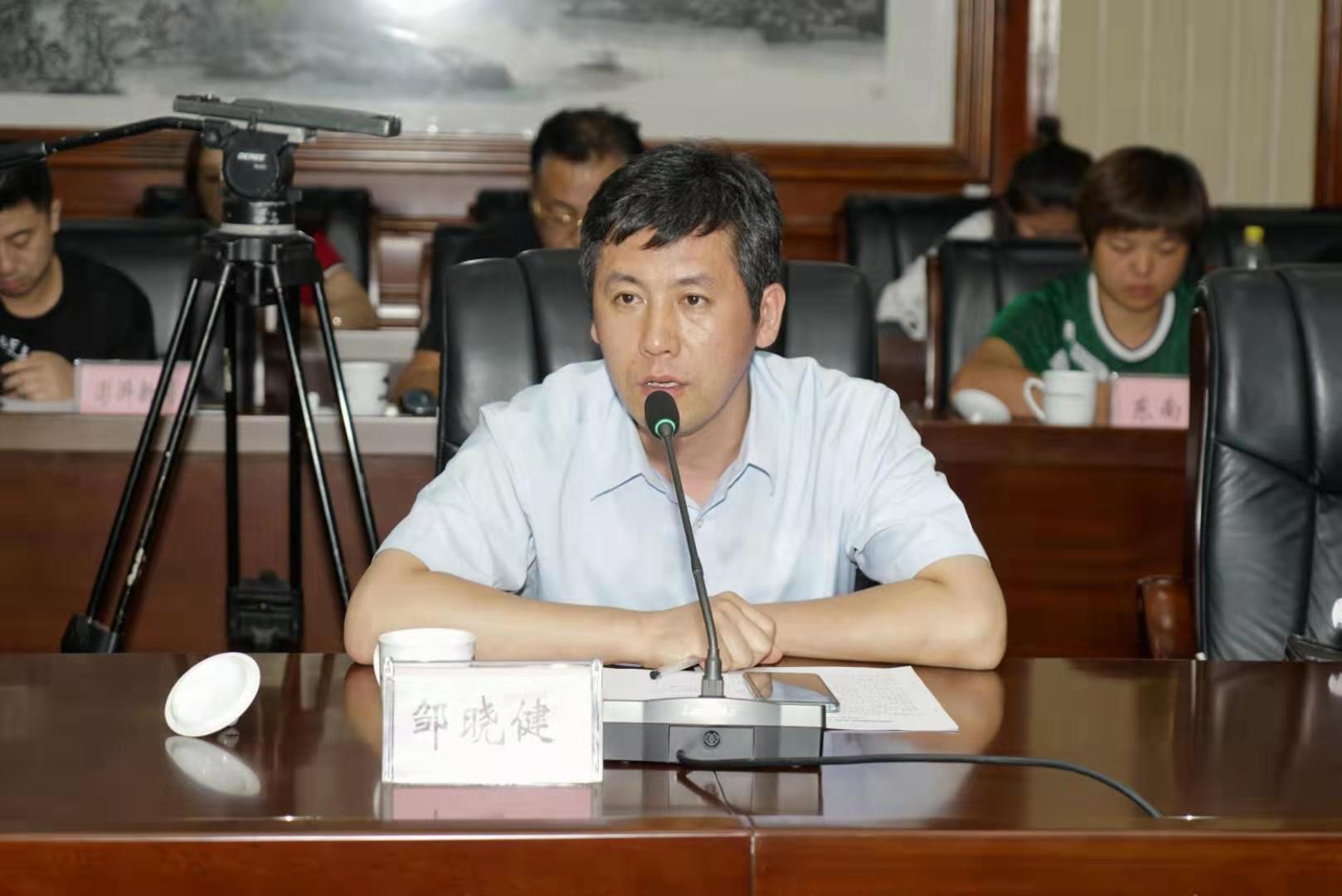 天津市委网信办新闻处四级调研员邹晓健作为媒体团代表讲话