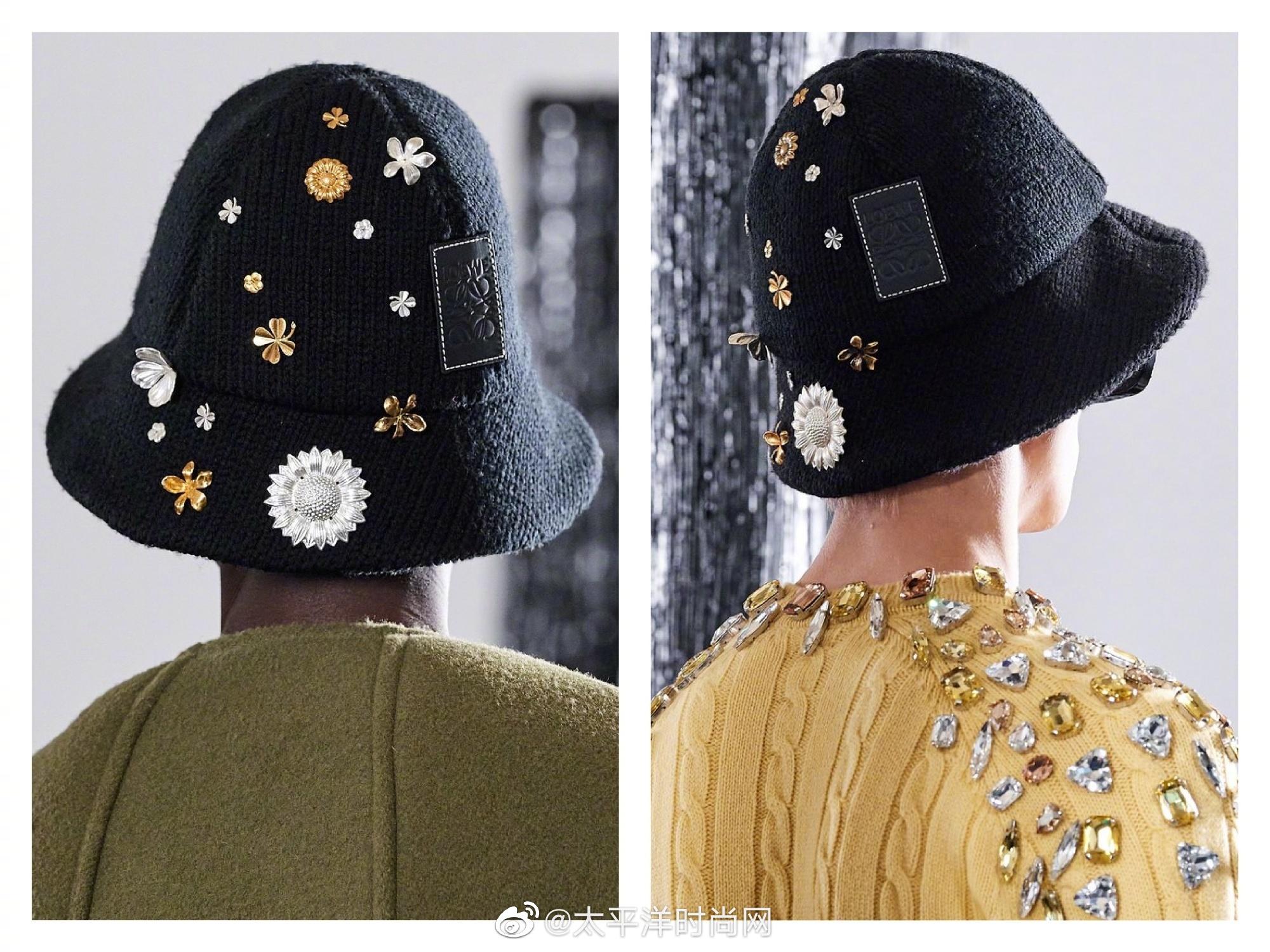 精致的花朵元素渔夫帽、别有趣味的图腾设计、加入了铆钉元素的小象包