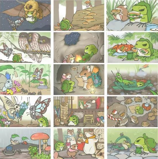 一款明星都在玩热门游戏旅行青蛙,你也领养一只萌蛙回家吧!