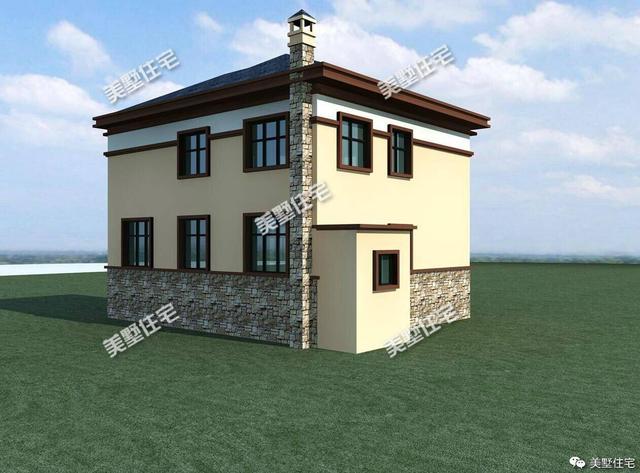 3款二层农村自建房设计图,一款带车库,一款带柴灶,哪款最实用图片