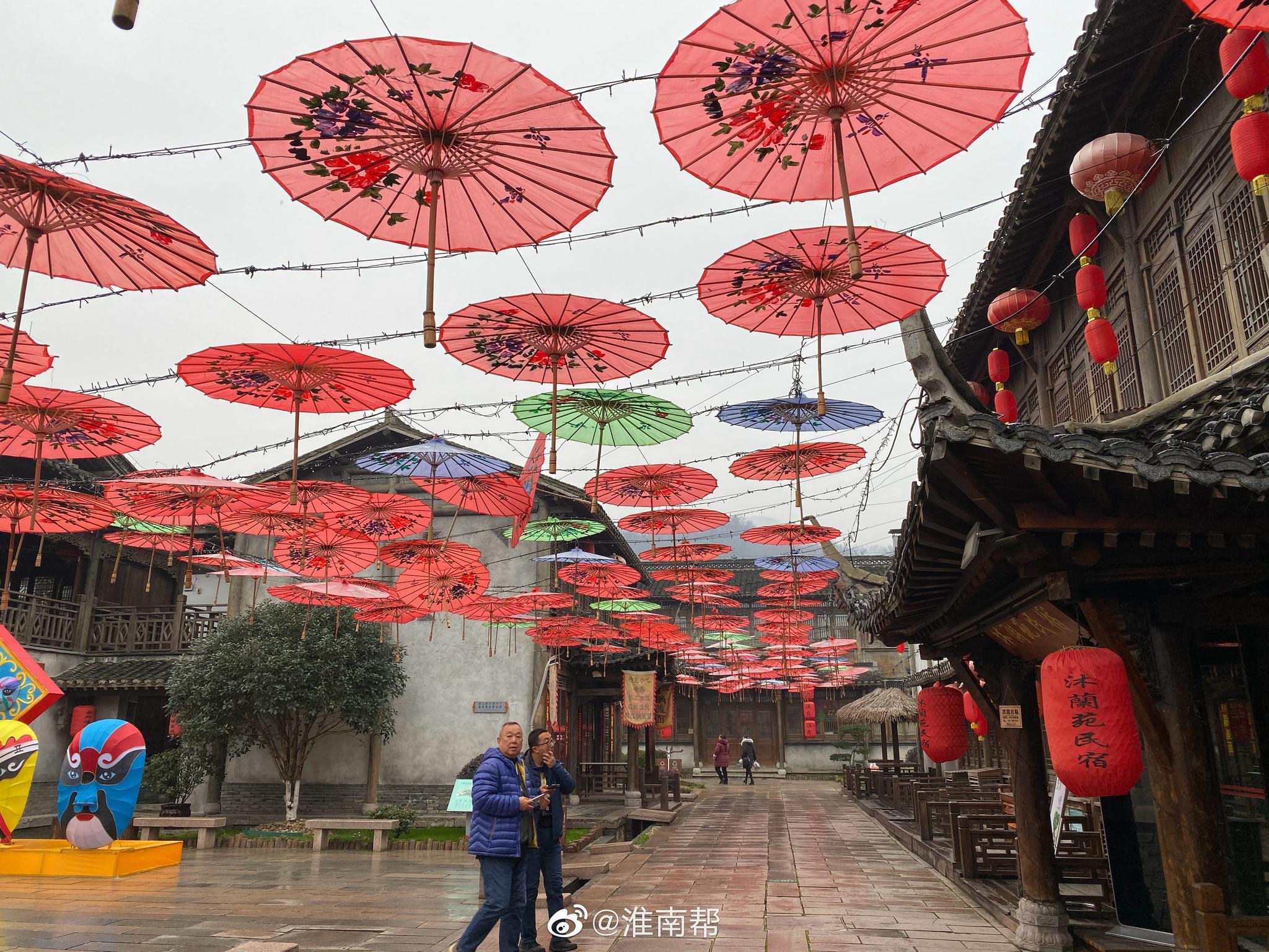 宝华山国家森林公园千华古村。清乾隆皇帝六下江南、六上宝华山