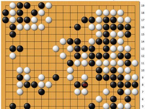 动图棋谱-新秀赛8强战 吕立言中盘胜黄春棋