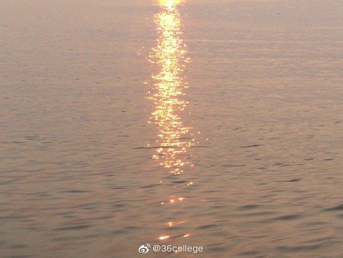 活在这温柔的世间,太阳强烈水波温柔。