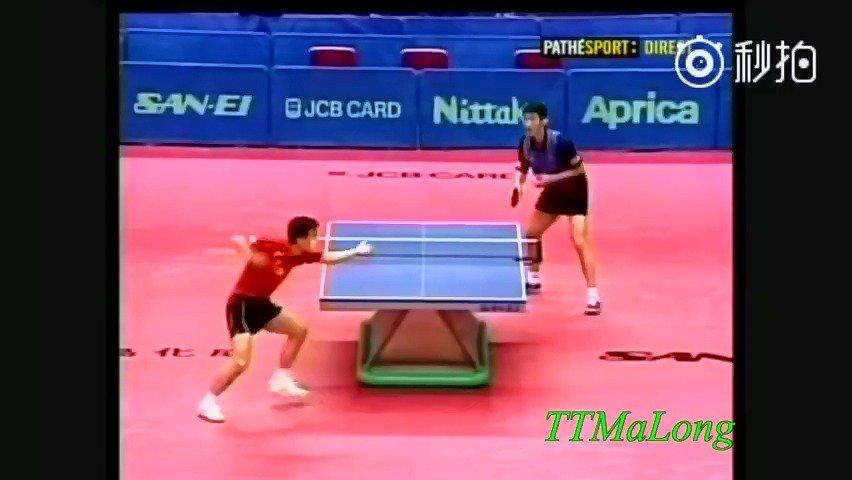 2001年大阪世乒赛男单决赛  vs 孔令辉   王励勤在0-2落后的情况下逆