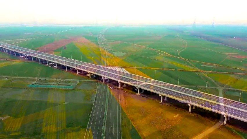 等疫情结束了,淮上淮河大桥应该能通车了吧?先给我26秒