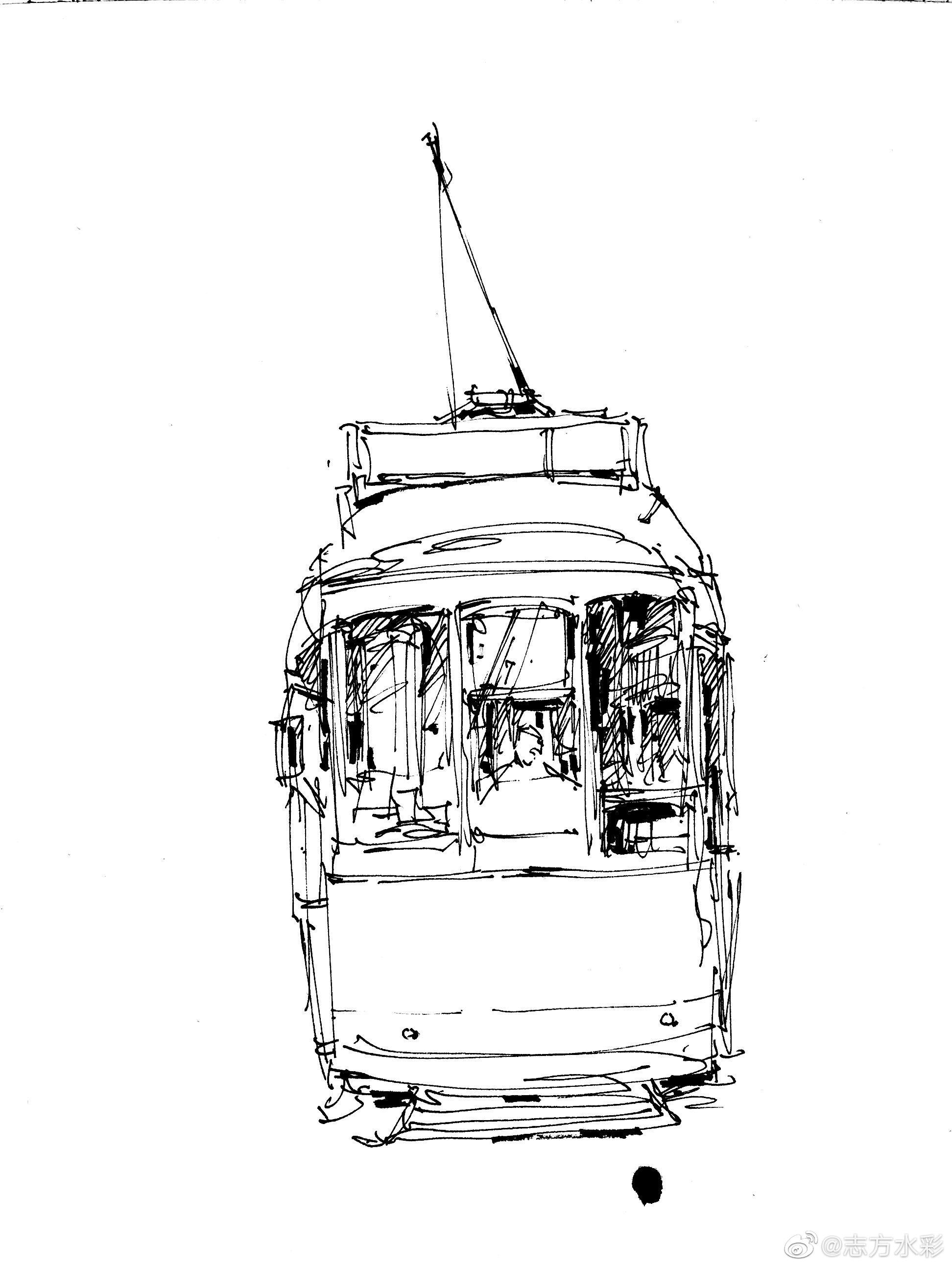 钢笔淡彩/红色电车4月30号晚晚8:00高清直播体验课