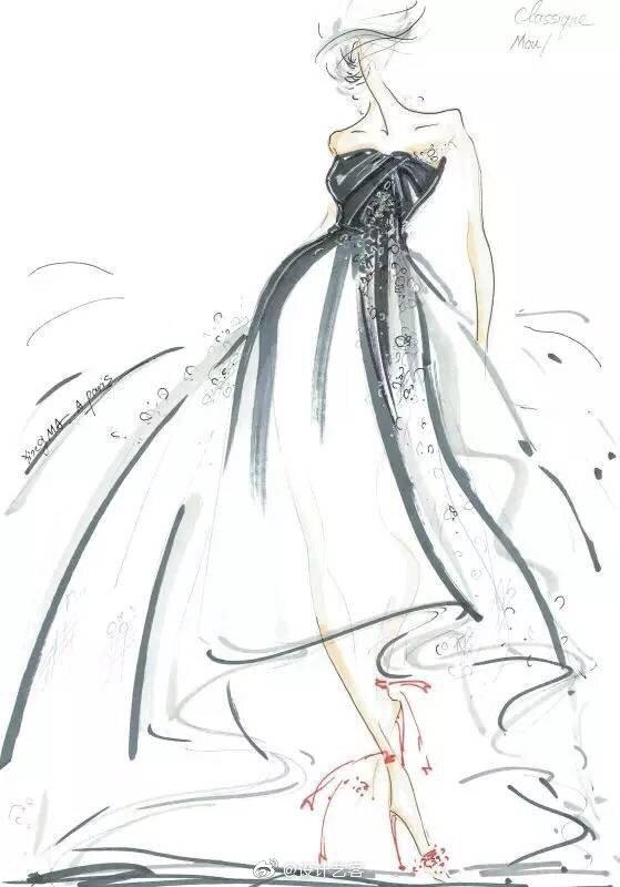 设计表达,服装设计手绘表现一组