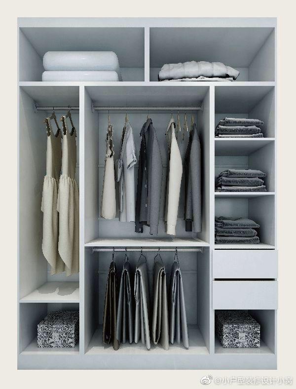 超好用的6种衣柜内部结构图