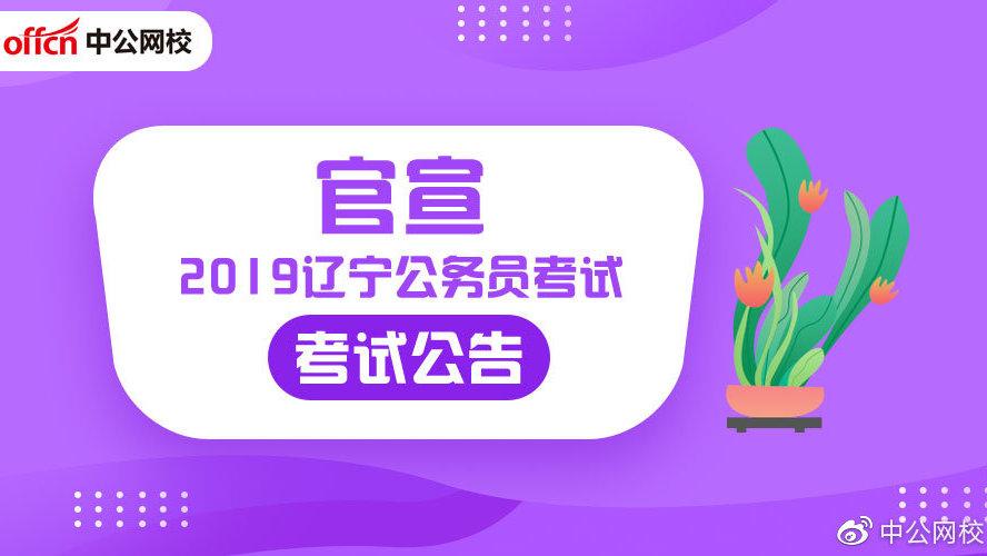 2019年辽宁省公务员考试公告及报考指南