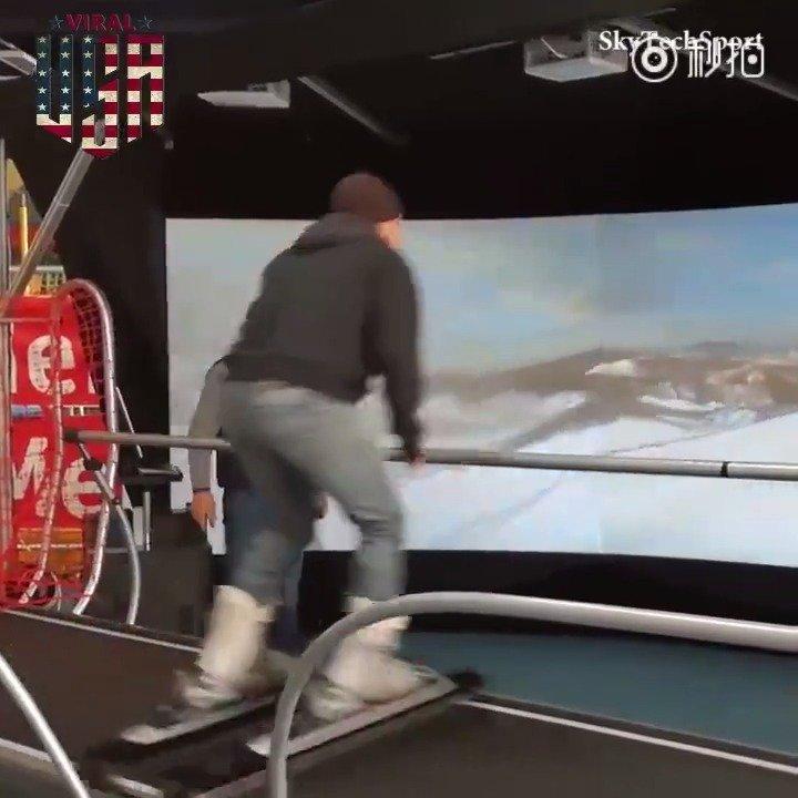 这套设备推荐给喜欢滑雪的朋友!让你一年四季都可以足不出户的滑雪