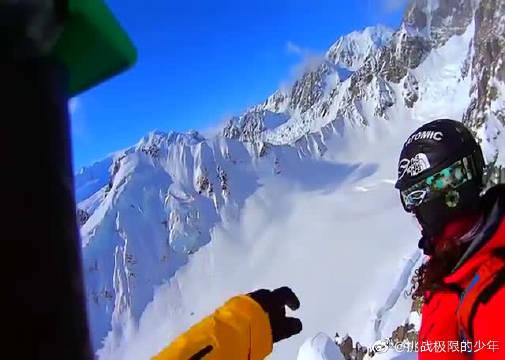高山极限滑雪,与死神比拼速度,真过瘾!