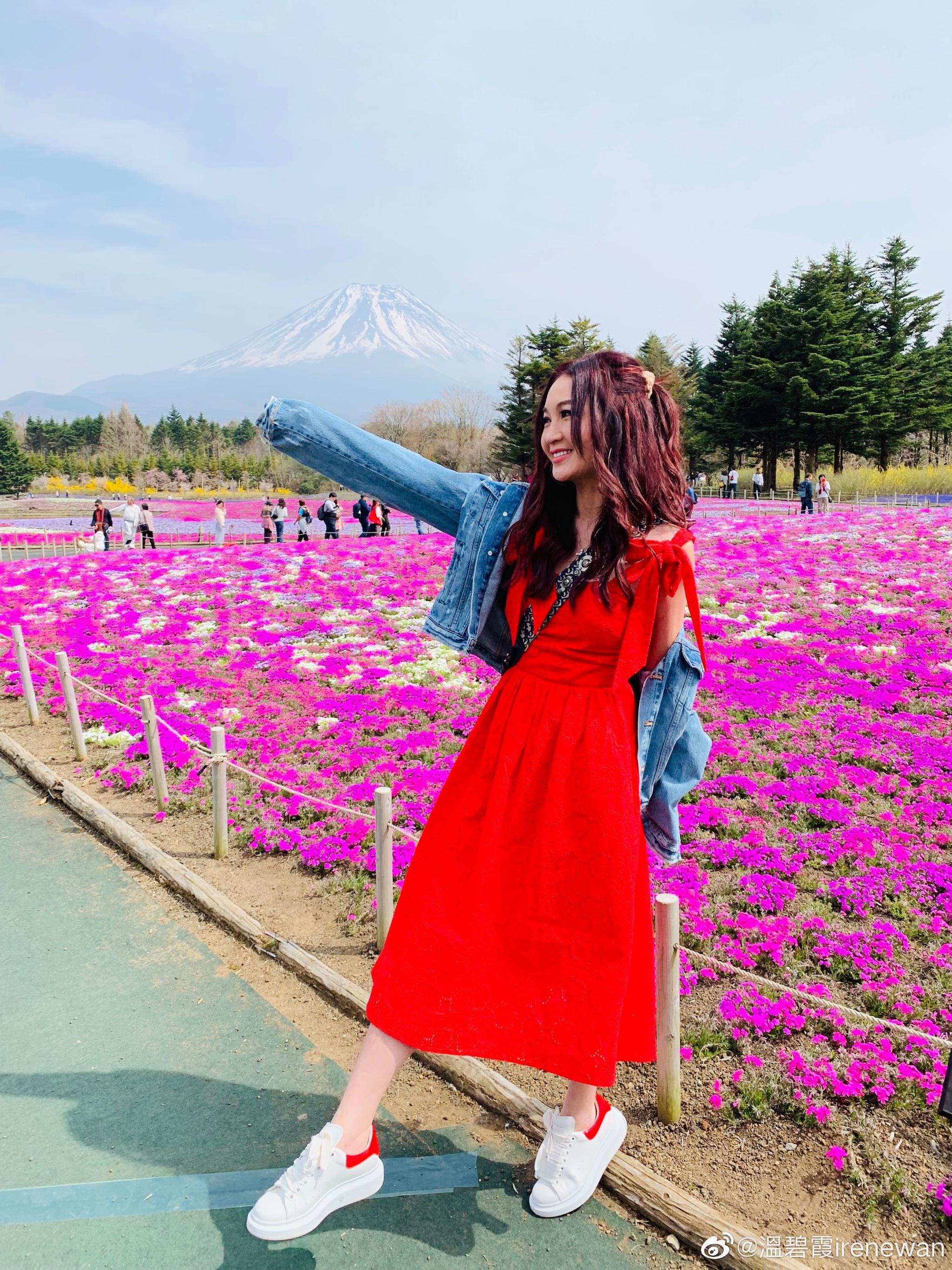 Beautiful day in Fuji:) 温碧霞