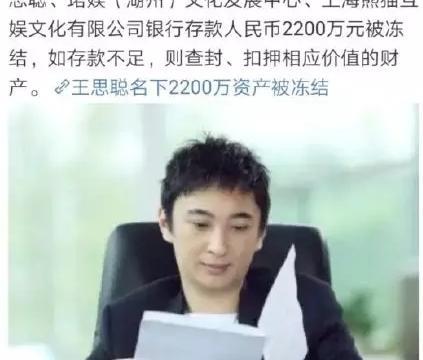王思聪2200万资产被冻结