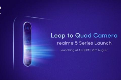 realme 5系列配置曝光,骁龙710+4800万像素,8月20日印度发布
