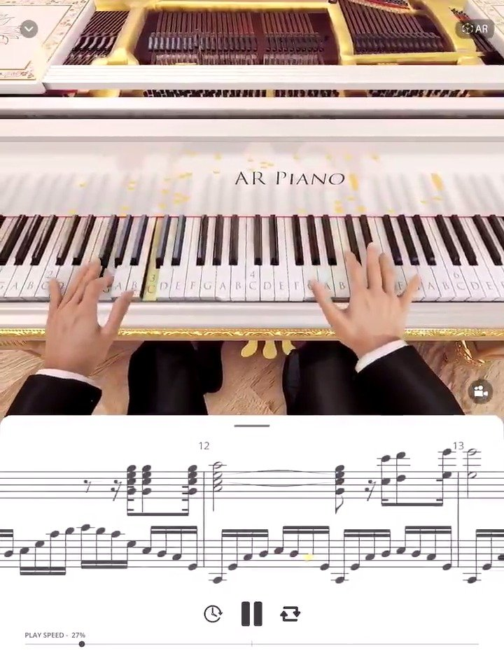 AR Piano——最新钢琴App:可观看高水准的音乐演奏