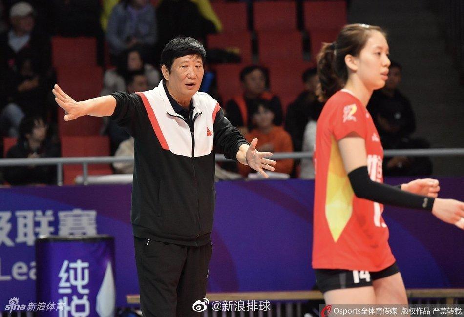 2019-2020赛季中国女子排球超级联赛第9轮,在争进4强的关键战中