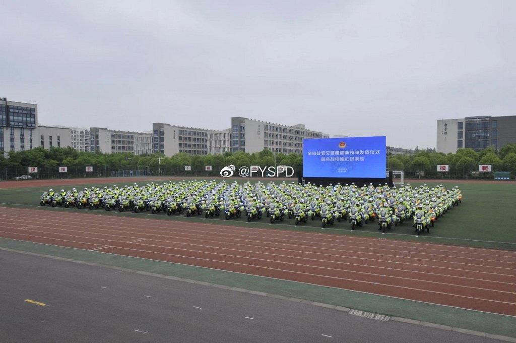 江苏交警铁骑队车辆发放仪式暨实战技能汇报演练掠影