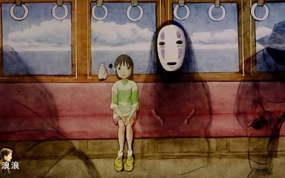 168小时!沙画还原《千与千寻》致敬宫崎骏,我们最温暖的宫崎骏。