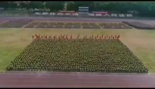 福建农林大学2019级新生军训汇演