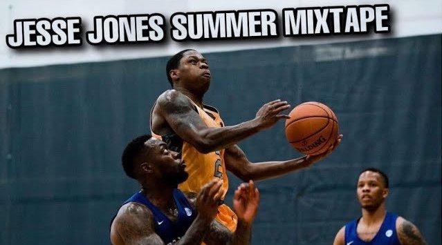 前NCAA球员Jesse Jones夏季表现,典型的小个子球员打法,节奏好