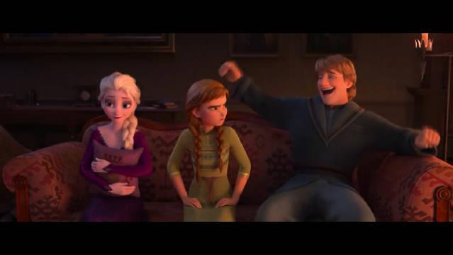 迪士尼动画《冰雪奇缘2》发布新正式预告(中字)!艾莎散下长发