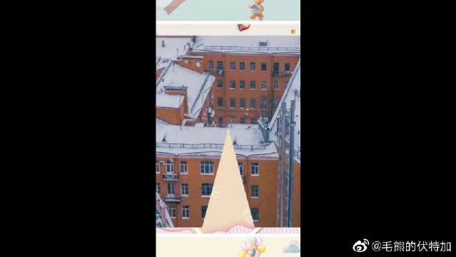 航拍冬天的莫斯科,圣诞公公送礼物,必须去感受一次~