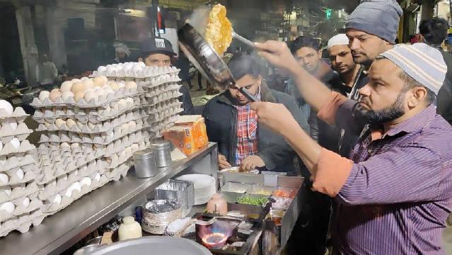 印度最快的煎蛋卷制作,面包奶酪煎蛋你吃过没