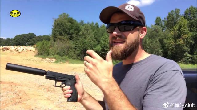 陶鲁斯TX22型手枪,配备消音器射击声音小的可以忽略不计