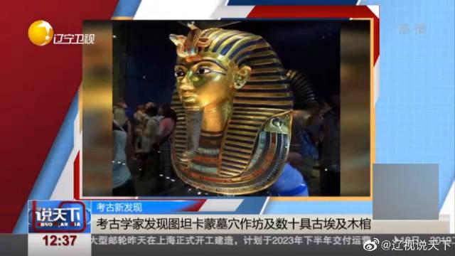 英媒:考古学家发现图坦卡蒙墓穴作坊及数十具木棺
