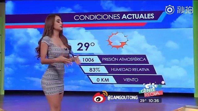 健身的魅力!!Yanet Garcia 墨西哥天气预报女主播翘臀无敌了
