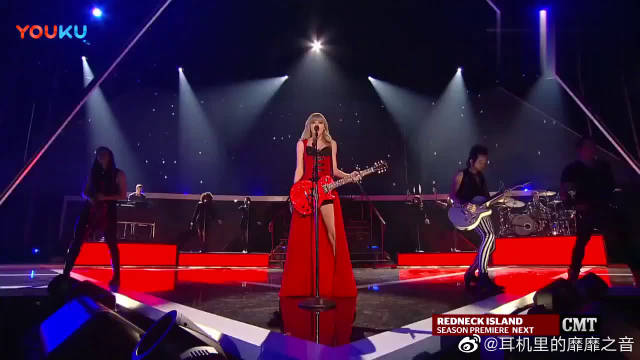 超好听的一首英文歌, 泰勒斯威夫特这个红衣现场太美了!