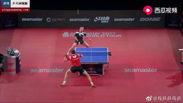 韩国乒乓球公开赛男单决赛 波尔vs弗朗西斯科 老将波尔夺冠